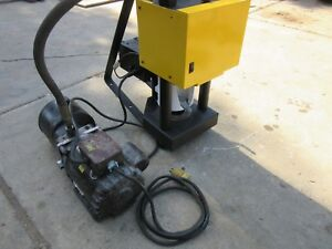 Weatherhead T 420 Hydraulic Hose Crimp Machine Crimper Works Great Free Shipping