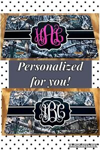 Monogram Camouflage License Plate Personalized Initials Camo Car Tag Custom New
