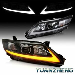 Trl Led Front Lamp Fit 2010 2011 Toyota Camry Signal Drl Projector Headlights