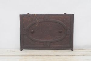 Antique Cast Iron Salvage Grate Front Panel Insert Fireplace Salvage 4