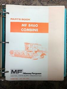 Massey Ferguson Mf 8460 Combine Parts Book Manual Catalog