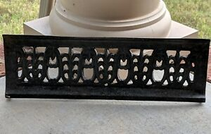 Antique Craftsman Home Art Nouveau Deco Style Fireplace Grate Cover Marked 650