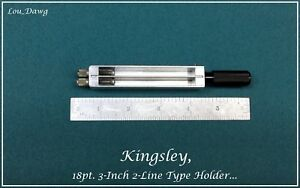 Kingsley Machine 18pt 3 inch 2 line Type Holder Hot Foil Stamping Machine