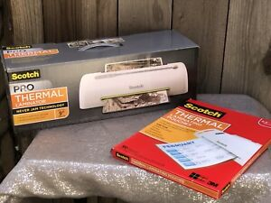 Scotch Pro Thermal Laminator And Thermal Laminating Pouches Bundle