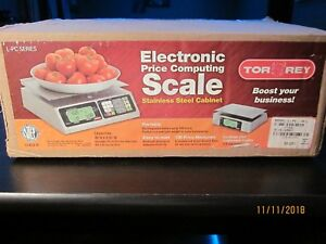Torrey Lpc40l Electronic Price Computing Scale Rechargeable Battery Brand New
