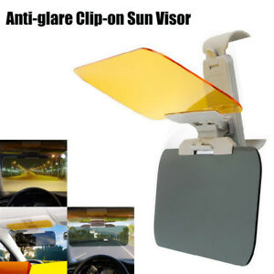 Sun Shade Anti Glare Visor Extender Night Vision Tinted Windshield For Cars