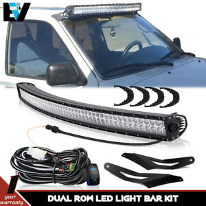 Fit 02 08 Dodge Ram 1500 Upper Roof 54 curved Led Cree Light Bar Bracket Kit