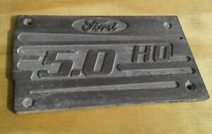 Ford Mustang 5 0 Ho 302 Efi Upper Intake Plenum Cover Plaque 94 95