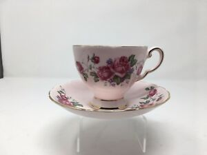 Vintage Tuscan England Bone China Cup Saucer With Gold Accent