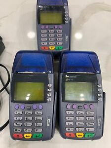 Lot Of 3 Verifone Omni 3740 Cc Terminal With Power Adapters 1 5a 22 26vdc