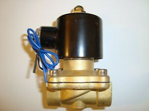 Dc 12v Electric Solenoid Valve Water Air Oil Gas 3 4 Brass Normally Closed