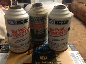 12 Oz R12 Refrigerant Freon 12 Igloo National Dupont 3 Full Cans