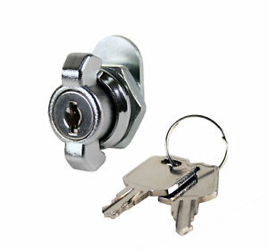T handle Cam Lock With Spun on Cam Chrome Keyed Alike 4 Pack