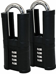 Combination Padlock With Long Shrouded Shackle 2 Pack