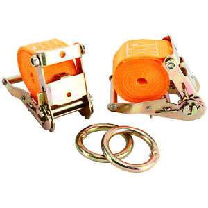 10 000 Lbs Motorcycle Tie Down Straps With Ratchet Strap Loops 2 X 10
