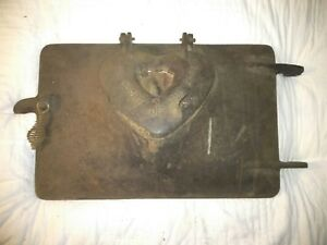 Vintage Heart Of The Home Cast Iron Door Stove Furnace Wood Burning Antique