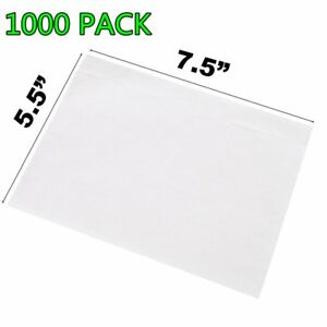 1000 Clear Packing List 7 5x5 5 Shipping Labels Envelopes Top Load Seft Adhesive
