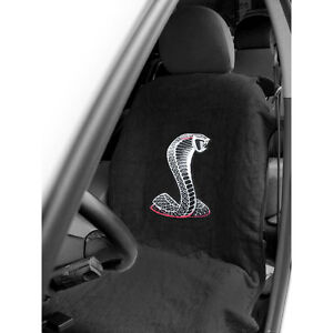 Mustang Seat Armour Seat Cover Black With Cobra Logo Cj Pony Parts