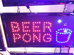 Beer Pong Led Neon Sign store Sign business Sign window Sign pub Bar Club Sign