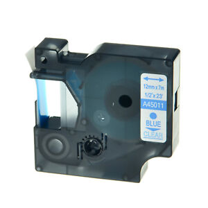 20pk 45011 Blue On Clear Label Tape For Dymo D1 45011 Labelmanager High Quality