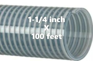 100ft Roll Kanaflex 112 Cl125 1 1 4 Inch Water Suction Hose Clear Pvc
