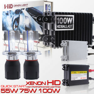 55w 75w 100w 9003 H4 Xenon Headlight Replacement Hid Conversion Kit Hi lo Beam