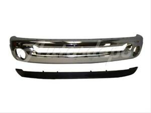 For Dodge Ram 1500 2500 3500 2002 2008 Front Bumper Chr Face Bar Valance Air Dam