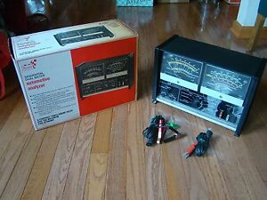 Vintage Sears Sequential Dual Meter Automotive Analyzer With Box Model 28 2182