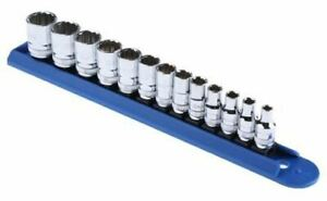Gear Wrench 80306 13 Pieces Rail Socket Set 1 4 In Square Drive