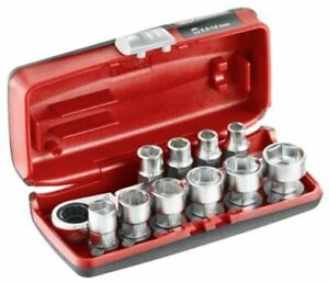 Facom Rxpicopb 11 Pieces Hexagon Socket Wrench Set 1 4 In Hexagon Drive