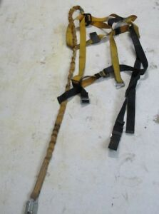Titan miller Aerial Lift Fall Protection Safety Harness W 6ft Shock Lanyard