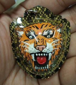 Tiger Face Shell Money Cowry Pendant Thai Amulet Charm Talisman Luck Protect