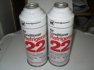 2 15oz Cans Of R22 Air Conditioner Refrigerant Interdynamics