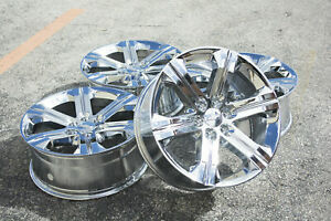 New Chevy Silverado Avalanche Tahoe 5667 22 Chrome Wheels Rims Lugs Ck157 Gmc