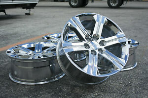 Gmc Sierra Denali Yukon Xl 22 Chrome Wheels Rims Lugs Ck157 5667 Silverado New
