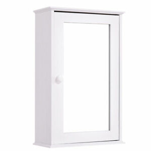 Modern Bathroom Wall Cabinet Mirror Door Organizer Storage Shop Garage First Aid