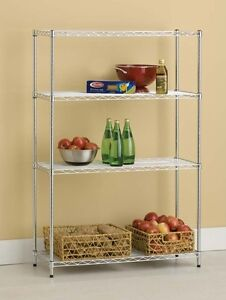 4 Tier 14 X 36 X 54 Wire Shelving Storage Rack silver Finish