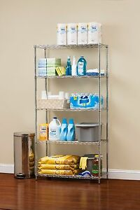 5 Tier Multipurpose Wire Storage Rack Chrome