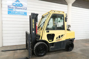 Hyster H90ft 9 000 Pneumatic Tire Forklift Lp Gas 4 Way S s