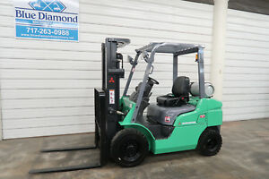 2007 Mitsubishi Cat 5 000 Pneumatic Tire Forklift 3 Stage S s 3 088 Hours