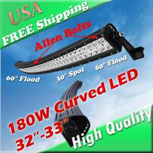32 34 Inch Curved Led Offroad Light Bar Jeep Grand Cherokee Toyota Fj Cruiser
