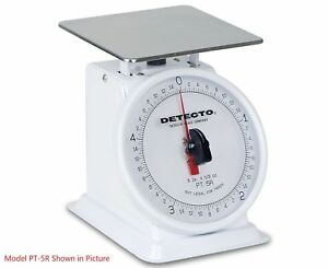 Detecto Pt 25 Fixed Dial Top Loading Scale 25 Lb Capacity
