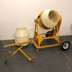 Mcmaster carr Gilson Cement Mixer Custom Cart Handle Hitch 2 Liners 1 3hp 22 Gal