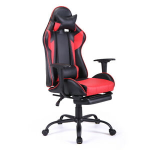 Ergonomic Swivel Gaming Chair High back Office Computer Chair Racing Style Red