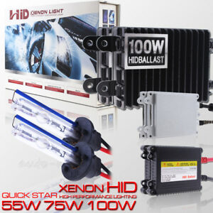 H1 55w 75w 100w Hid Xenon Conversion Kit For Headlight High Beam Light 5k 6k 8k