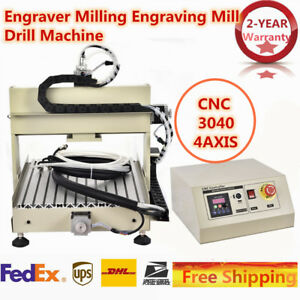 Cnc 3040 4axis Engraver Milling Engraving Mill Drill Machine 800w Vfd Ac110v Usa