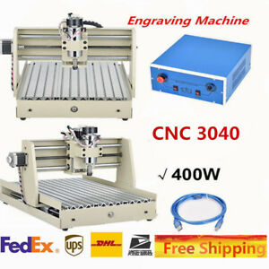 Cnc 3040 3axis Router Engraver Engraving Milling Cutting Drilling Machine 400w