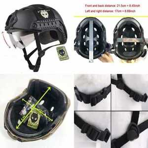 PJ Type Tactical Multifunctional Fast Helmet W Visor Goggles Low Price Version