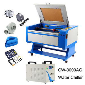 High Precise 60w Co2 Usb Laser Engraving Cutting Machine 700x500mm Water Chiller