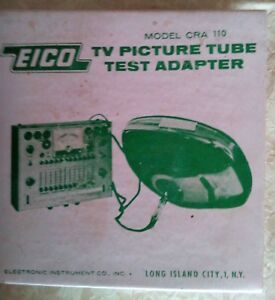 Eico Cra 110 Picture Tube Testing Cable For 625 And 667 Tube Testers